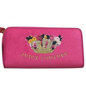 Beautiful Classic Juicy Pink Velour Wallet